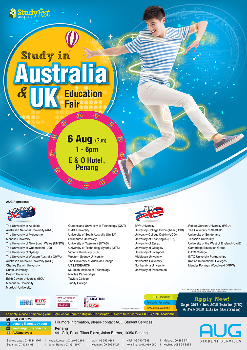Study in Australia and the UK Education Fair