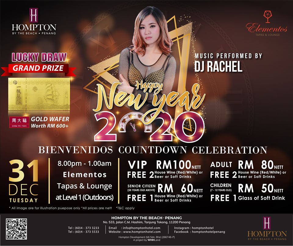 Countdown 2020 at Hompton Hotel