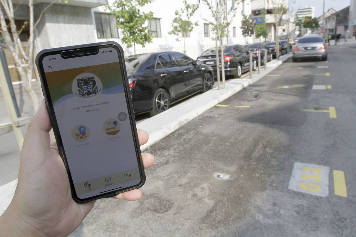 Penang smart parking app ready for use