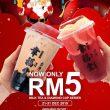 Milk Tea or Famascus Rose Tea with Lemons only RM5!