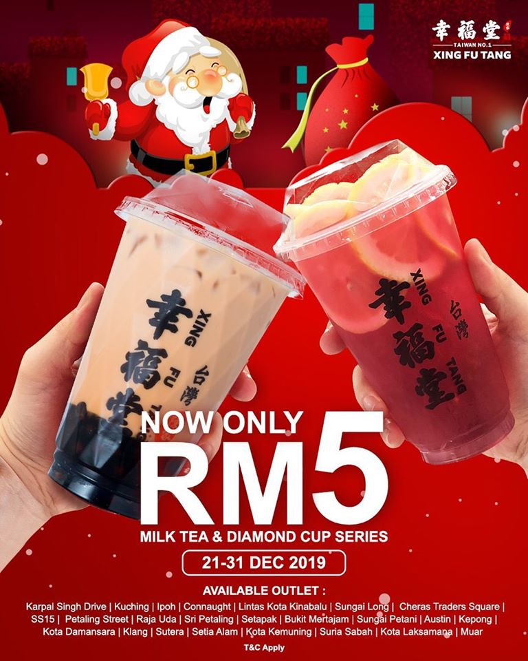 Milk Tea or Famascus Rose Tea with Lemons only RM5!