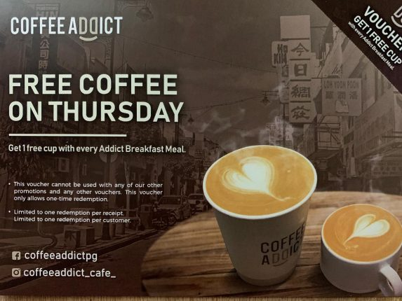 Free Coffee On Thursday @Coffee Addict