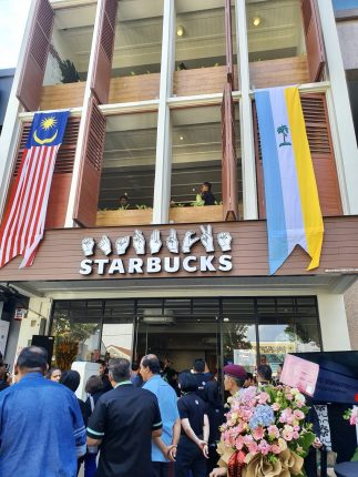 Starbucks' First Signing Store In Penang
