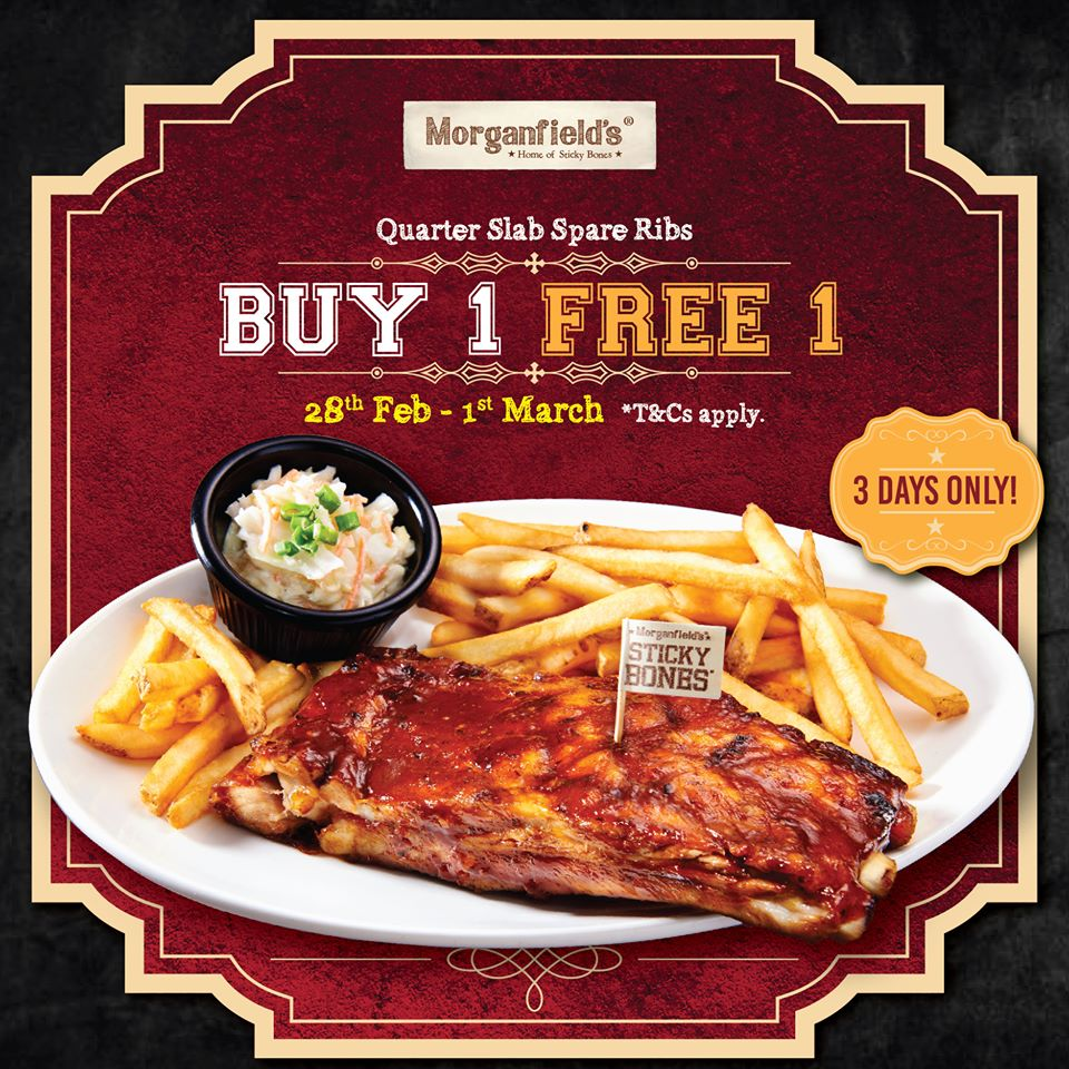 Sticky Bones Spare Ribs Buy 1 Free 1