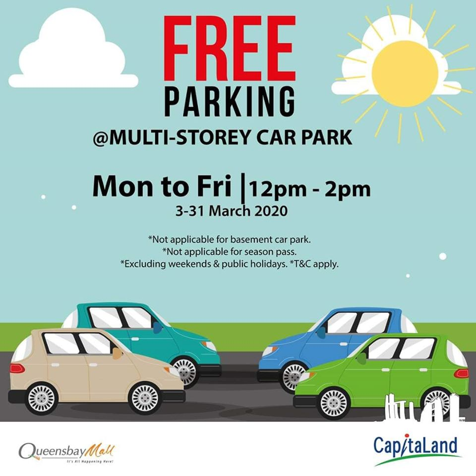 Free Parking at Queensbay Mall and Gurney Plaza